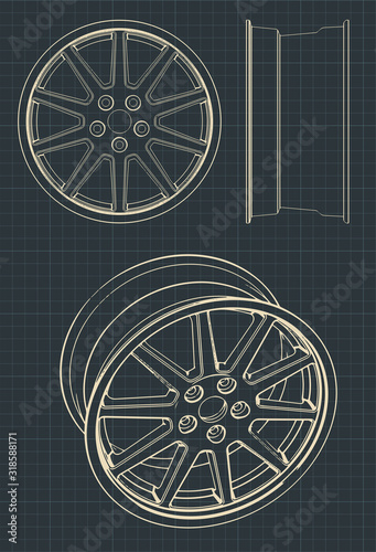 Automotive alloy wheels Canvas Print