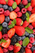 Assorted Of Fresh Berry Fruit-...