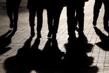 Silhouettes And Shadows Of Peo...
