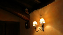 Old Lamps Turned On In The Wal...