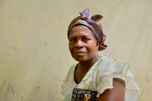 Portrait Einer Afrikanischen Frau