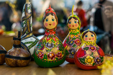 Close-Up Of Matryoshka Dolls On Table