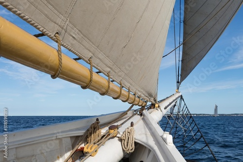 Fotografie, Obraz  LOW ANGLE VIEW OF SHIP SAILING ON SEA AGAINST SKY