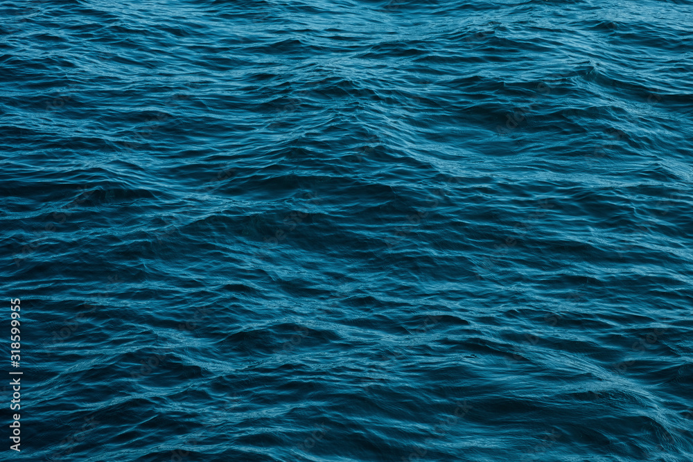Fototapeta ocean wave high angle view blue water background