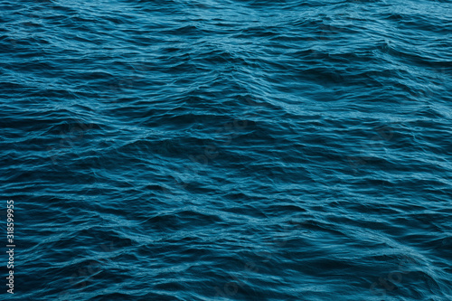 ocean wave high angle view blue water background