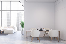 White Dining Room And Living R...