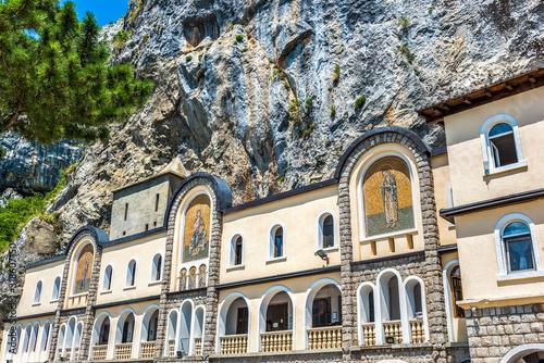 Stampa su Tela Monastery Ostrog in cliffs