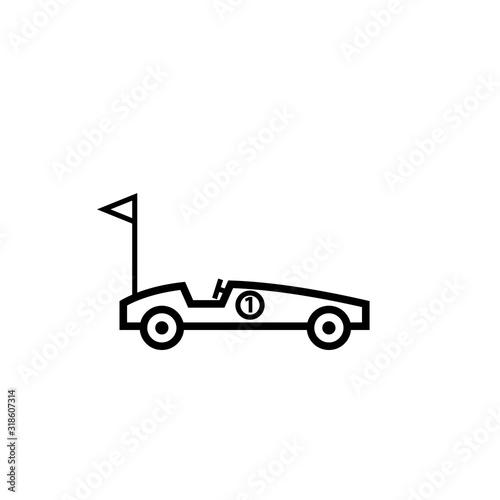 Vászonkép Soap box car outline icon