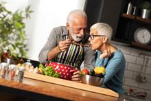 Elderly Man In Love Cooks For ...