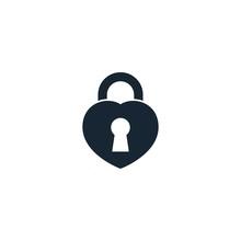 Heart Lock Creative Icon. From...