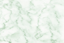 Green Background White Marble ...