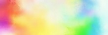 Colorful Vibrant Old Horizontal Header With Tea Green, Beige And Pale Violet Red Color