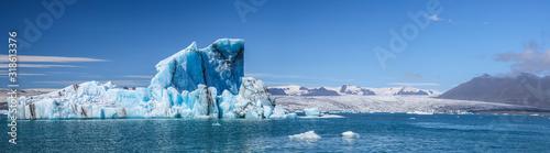 Fototapeta Panoramique d'un iceberg et glacier obraz