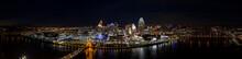 Night Aerial Panorama Cincinna...