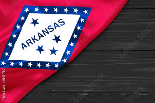 Flag of Arkansas place for text cope space Wallpaper Mural