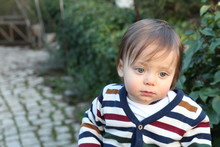 One Year Old Baby Outdoors Por...