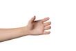 Leinwandbild Motiv gesture of the hand for holding smartphone or bottle