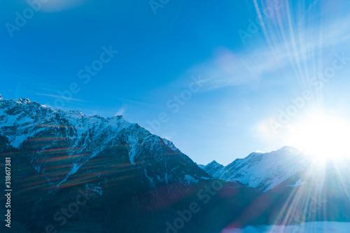 Fototapeta Top of the Swiss mountains, obraz na płótnie