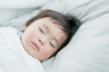 Close Up Of Sleeping Toddler Boy