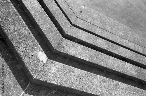 Angular pattern formed by concrete stairs Canvas Print