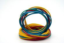 Colorful Rubber Bands Close Up