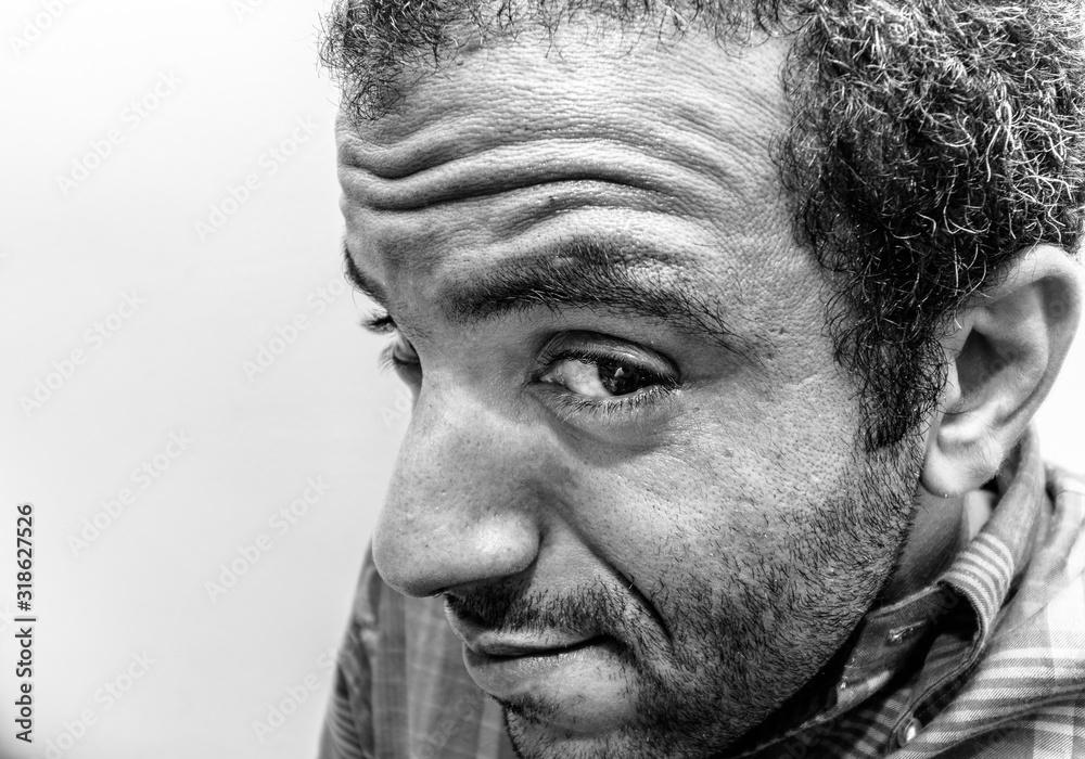 Fototapeta Close-Up Portrait Of Man