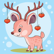 Cute Character Of A Small Deer...