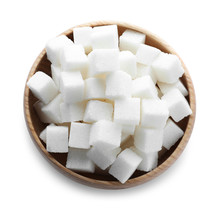 Refined Sugar Isolated On Whit...