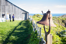 Old Rusty Bell At Seaside Location.