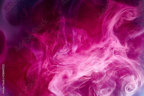 Photo Pink universe abstract background, swirling galaxy smoke, alchemy dance of love and passion