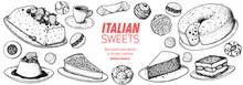 Italian Dessert Vector Illustr...