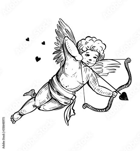 Canvas Cupid sketch