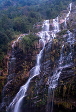 Waterfall Located In Annapurna...