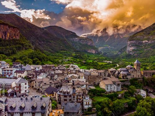 Torla-Ordesa and the Ordesa & Monte Perdido National Park in pyrenees Spain