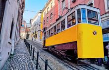 The Gloria Funicular In Lisbon...