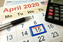 Tax Day Marked On April 2020 M...