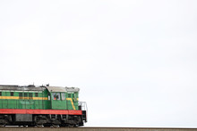 Diesel Locomotive In An Industrial Zone