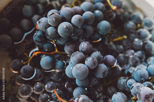 Close-Up Of Blueberries Fotobehang