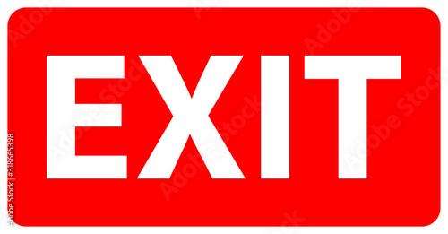 Foto exit sign