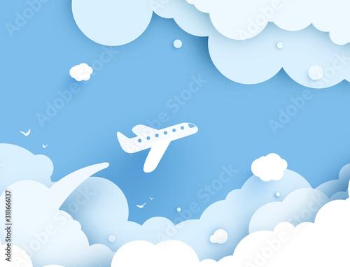 samolotowy-widok-z-lotu-ptaka-papierowa-sztuk