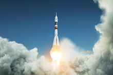 Space Rocket Takes Off Into Th...