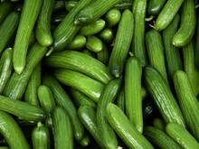 Full Frame Shot Of Cucumbers For Sale In Market