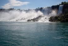 Niagara Falls Covered In Green...