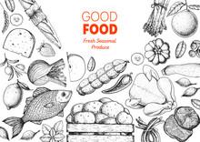 Organic Food Illustration. Far...
