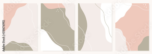 Fototapeta Modern design templates with abstract shapes in pastel colors