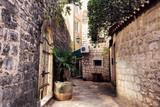 Fototapeta Uliczki - Old town street in Montenegro, Kotor city