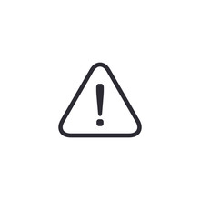 Warning Sign Exclamation Mark Attention Icon. Vector Flat Symbol