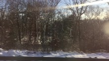 Snow Covered Countryside In Ma...