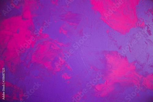 Detail of pink purple wall Canvas Print