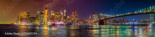 Foto new york city skyline ultra wide panorama manhattan travel destination